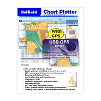 Picture of USB GPS (BU-353 dongle) plus chart plotter (DVD)
